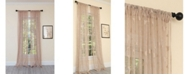 Manor Luxe Elegant Butterfly Sheer Rod Pocket Curtain Collection