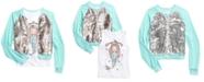 Beautees Big Girls 2-Pc. Flip Sequins Bomber Jacket & Always Dreaming Mermaid Tank Top Set