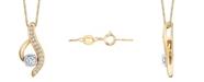 Sirena Diamond (1/4 ct. t.w.) Modern Pendant in 14k Yellow and White Gold