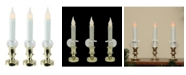 """Northlight Set of 3 Battery Operated LED Flickering Window Christmas Candle Lamps 8.5"""""""