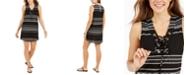 Dotti Dahlia Striped Lace-Up Tunic Cover-Up