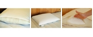 Holy Lamb Organics Natural Wool-Wrapped Latex Pillow with Organic Cotton Sateen Zippered Encasement