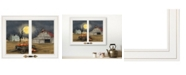"""Trendy Decor 4U Harvest Moon by Billy Jacobs, Ready to hang Framed Print, White Window-Style Frame, 19"""" x 15"""""""
