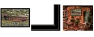 "Trendy Decor 4U Pottersburg Bridge by Billy Jacobs, Ready to hang Framed Print, Black Frame, 38"" x 26"""