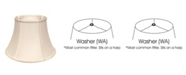 Macy's Cloth&Wire Slant Shallow Drum Softback Lampshade with Washer Fitter
