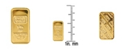 American Coin Treasures American Novelty Coin Treasures1 Gram Brass Swiss Ingot Tribute Layered in 24KT Gold