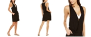 Calvin Klein Surplice Racer-Back Tunic Swim Cover-Up, Created for Macy's
