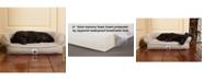 3 Dog Pet Supply Ez Wash Fleece Headrest Memory Foam Dog Bed, Large