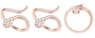 Macy's 3/8 ct. t.w. Round Shape Diamond Ring in 14k Rose Gold