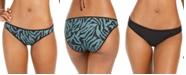 Bar III Zebra Printed Reversible Hipster Bikini Bottoms, Created for Macy's