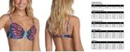 Raisins Juniors' Own the Night Printed Push-Up Bikini Top, Created for Macy's