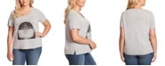 Jessica Simpson Trendy Plus Size Ace Tulip-Sleeve Graphic T-Shirt