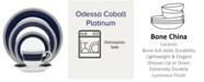 Noritake Odessa Cobalt Platinum 5 Pc Place Setting