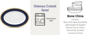 "Noritake Odessa Cobalt Gold Oval Platter, 16"""