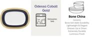 Noritake Odessa Cobalt Gold Butter/Relish Tray