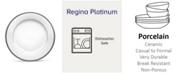 "Noritake Regina Platinum Salad Plate, 8-1/4"""