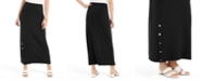 JM Collection Petite Buttoned-Slit Skirt, Created for Macy's