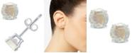 Macy's Moonstone (1-1/10 ct. t.w.) Stud Earrings in 14K White or Yellow Gold