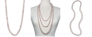"""Macy's Oval Cultured Freshwater Pearl (7-1/2mm) 100"""" Endless Strand Necklace"""