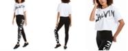 Calvin Klein Brushed-Logo Top & Leggings