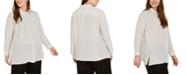 Eileen Fisher Plus Size Silk Striped Top