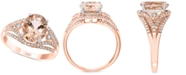 LALI Jewels Morganite (2-3/4 ct. t.w.) & Diamond (1/4 ct. t.w.) Ring in 14k Rose Gold & White Gold