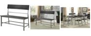 Furniture of America Belca Silver Dining Bench