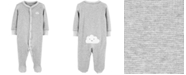 Carter's Baby Boys or Girls 1-Pc. Gray Cloud Cotton Coverall