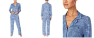 Lauren Ralph Lauren Printed Three-Quarter Sleeve Pajama Set