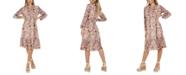 QUIZ Printed Midi Wrap Dress