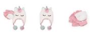 Love 2 Design Big Girls Unicorn Heidi Hat with Flip Top Gloves, 2 Piece Set