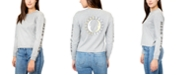 Rebellious One Juniors Moon Child Back Graphic Print Cotton Top