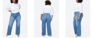 NYDJ Plus Size Wide Leg Trouser Jeans