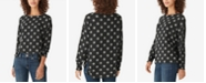 Lucky Brand Printed Jersey Tunic Top
