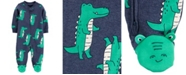 Carter's Baby Boys Alligator 2-Way Zip Cotton Sleep and Play One Piece