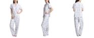 Muk Luks Printed Short Sleeve Pajama Set