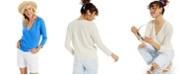 Charter Club Wrap-Style Cashmere Sweater, Created for Macy's