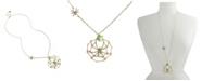 Betsey Johnson Spider Web Pendant Long Necklace