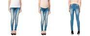 WallFlower Maternity Ripped Skinny Jeans, Medium Wash