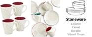 Noritake Dinnerware Set of 4 Colorwave Raspberry Holiday Mugs