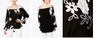 INC International Concepts INC Embroidered Off-The-Shoulder Top, Created for Macy's
