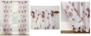 "No. 918 Bimini Textured Floral 51"" x 63"" Sheer Curtain Panel"