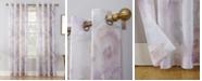 "No. 918 Andorra 51"" x 63"" Crushed Sheer Watercolor Floral Curtain Panel"