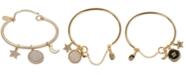 Ivanka Trump Gold-Tone Charm Bangle Bracelet