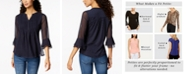Charter Club Printed Pintuck Top, In Regular and Petite, Created for Macy's