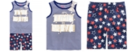 Epic Threads Little Girls Striped Tank Top & Star-Print Bermuda Shorts, Created for Macy's