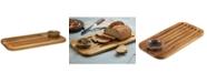 Anolon Pantryware Teak Wood Bread Board & Dipping Dish