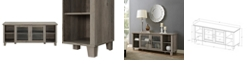 Walker Edison Columbus TV Stand with Middle Doors - Grey Wash