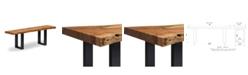 "Alaterre Furniture Alpine Natural Live Edge Wood 48"" Bench"
