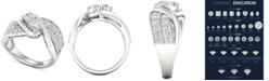 Macy's Diamond Two-Stone Swirl Engagement Ring (1-1/2 ct. t.w.) in 14k White Gold